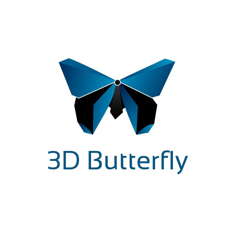 3D Butterfly Logo
