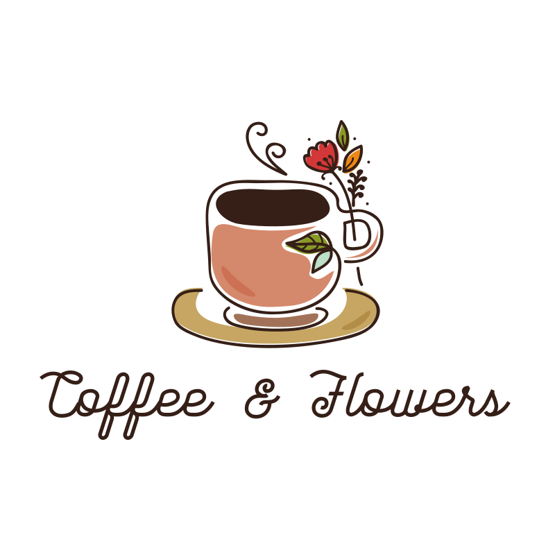 Coffee and Flowers Logo