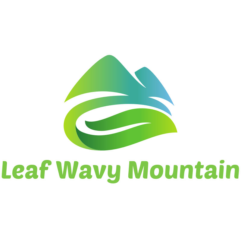 Leaf Wavy Mountain logo
