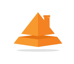 Pyramid Logo Design by Musiquedesign