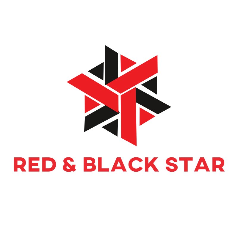 Red and Black Star logo