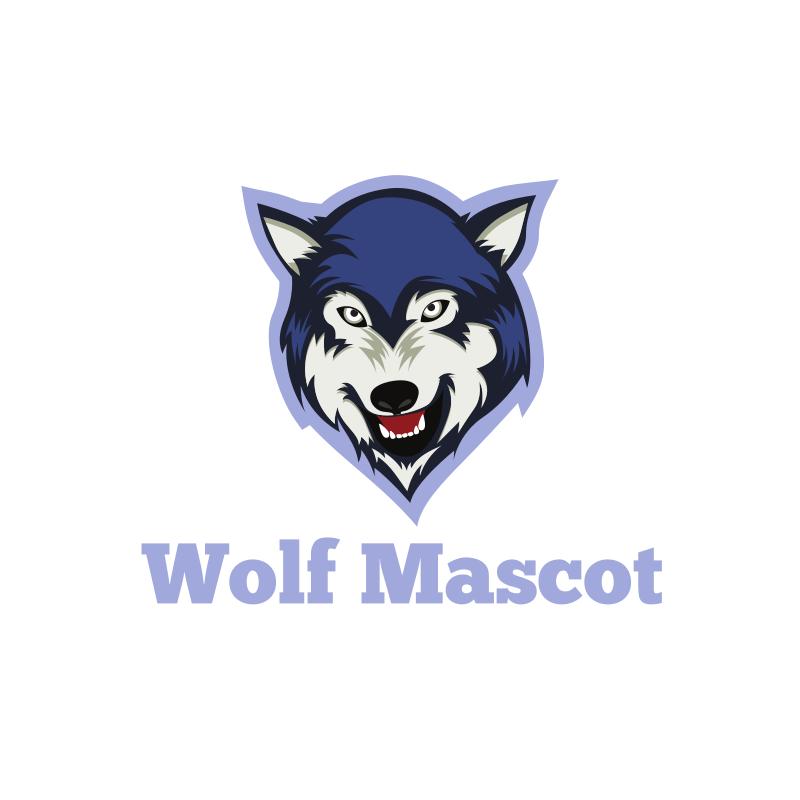 Wolf Mascot Logo