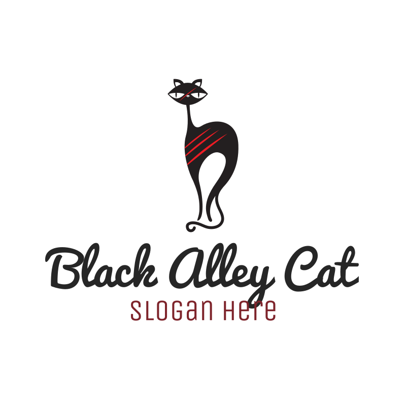 Black Alley Cat logo