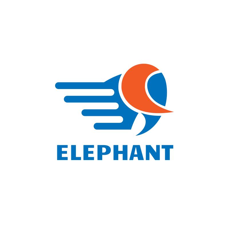 Elephant WiFi Logo Design