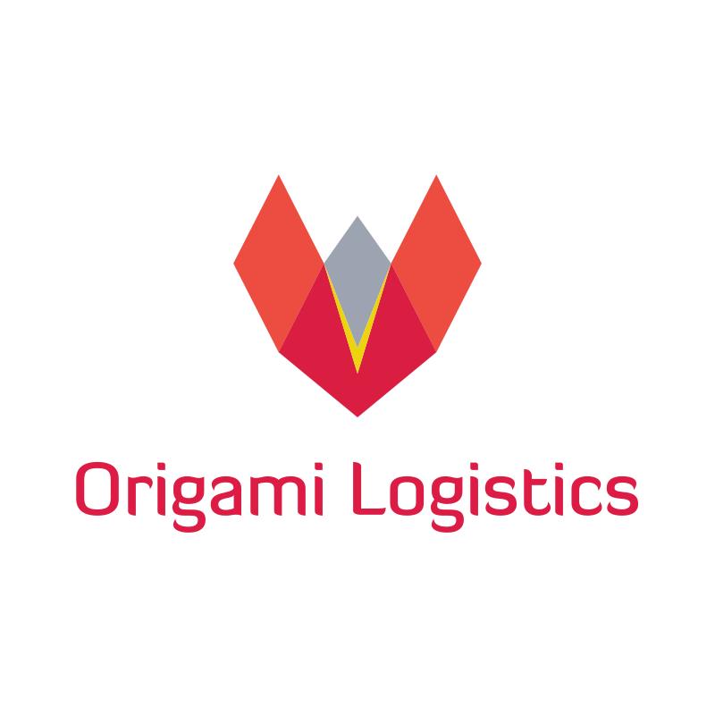 Origami V Logo Design
