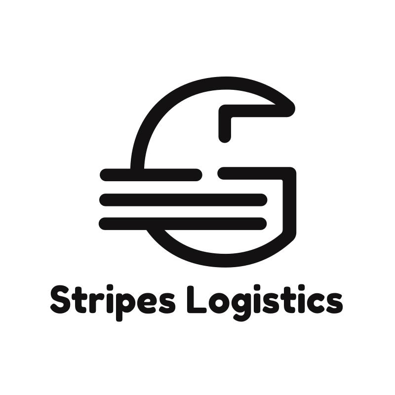 Stripes Letter G Logistics Logo Design