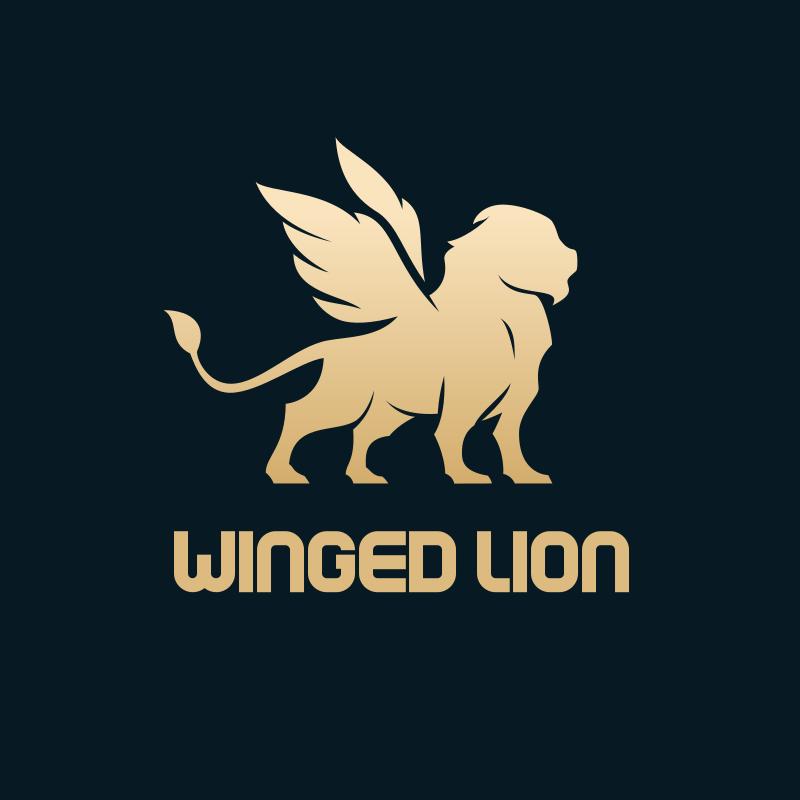 Winged Lion logo design