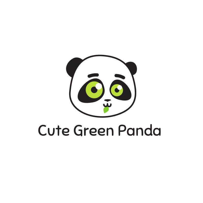 Cute Green Panda