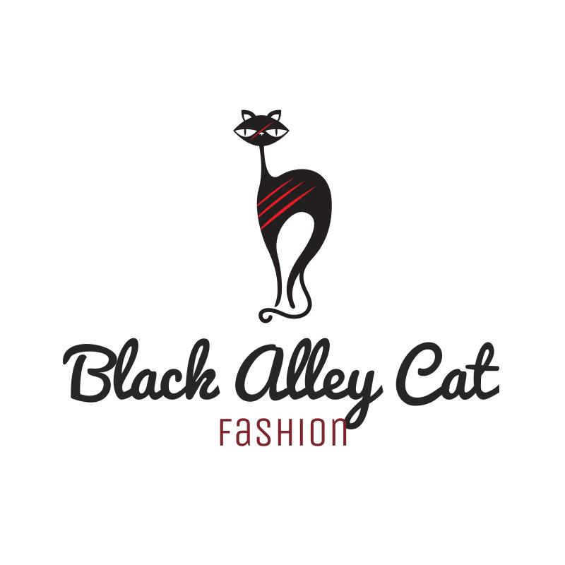 Black Alley Cat Fashion Logo