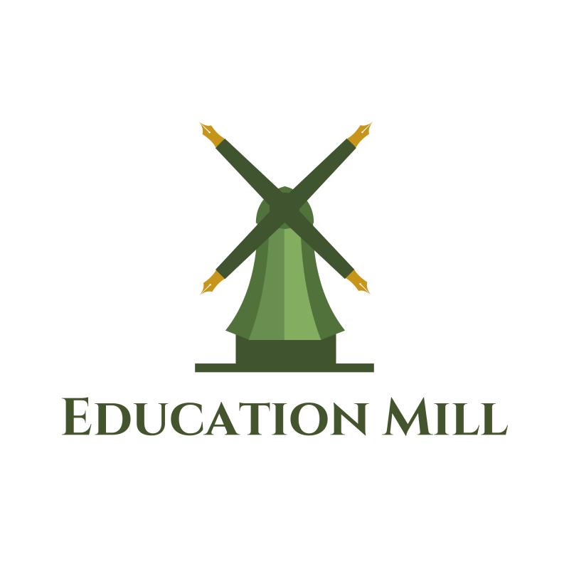 Education Mill Logo Design