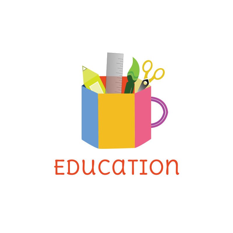School Supplies Logo Design