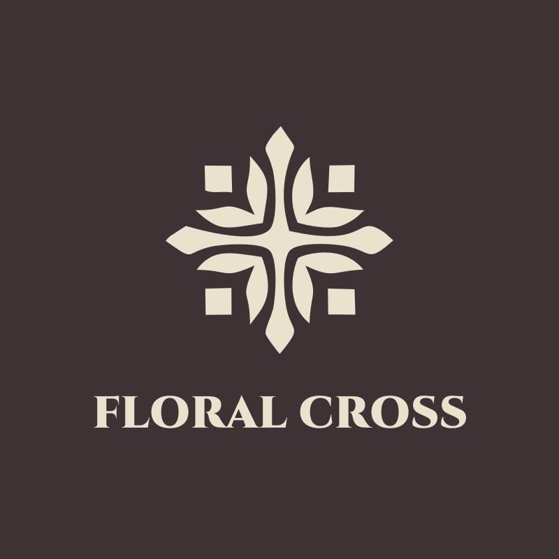 Floral Cross Fashion Logo