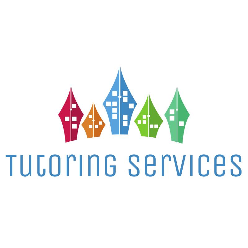 Tutoring Services Pen Nib Buildings Logo