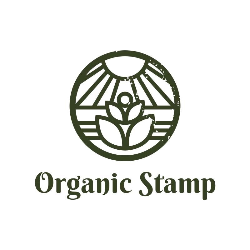 Organic Stamp Logo