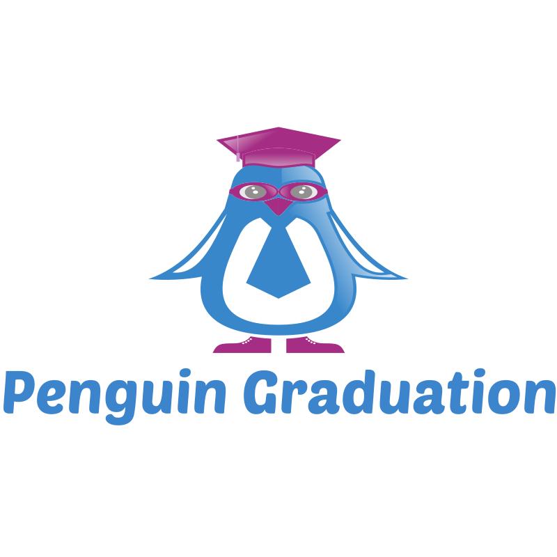 Penguin graduation Logo