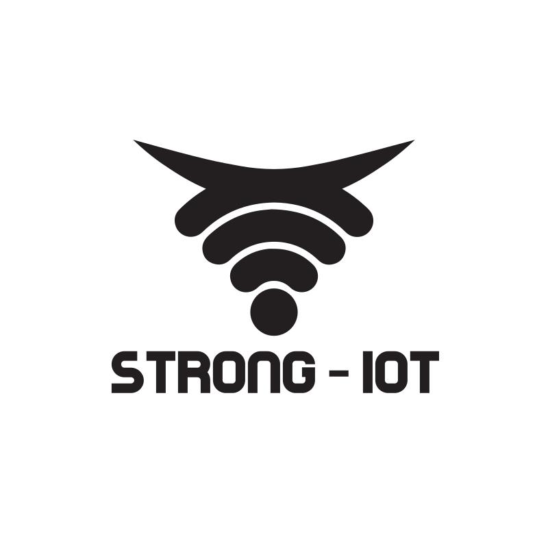 Strong Bull Wifi - IoT Logo Design