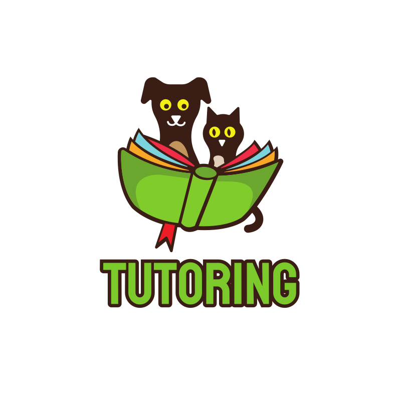 Tutoring Cat and Dog logo