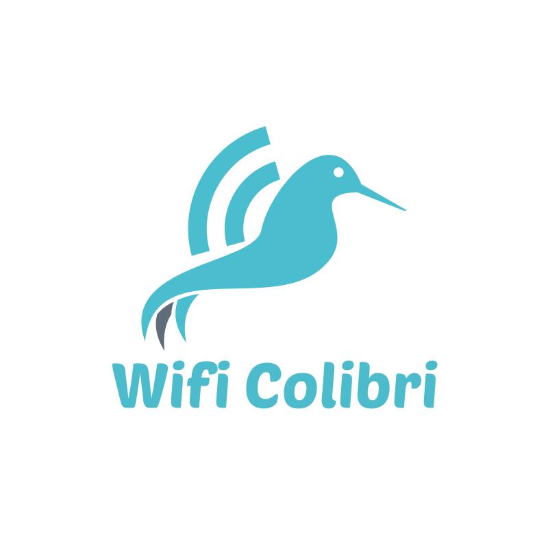 WiFi Colibri logo Design