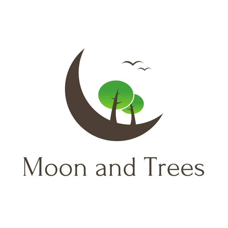 Moon and Trees Logo Design