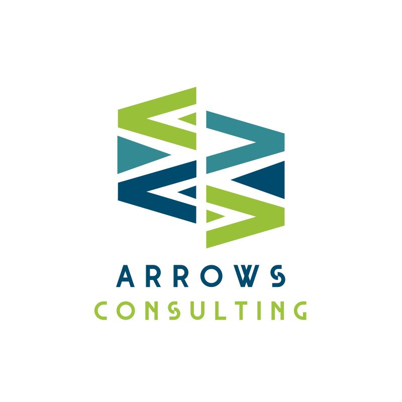 Arrows Triangle Consulting Logo Design