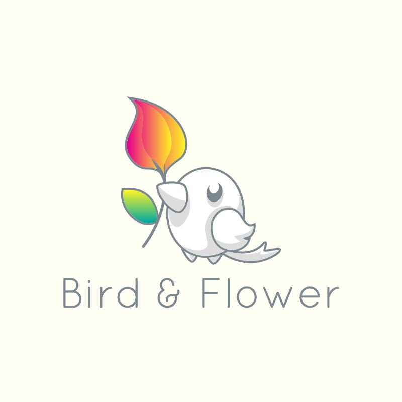 Bird & Flower Logo Design