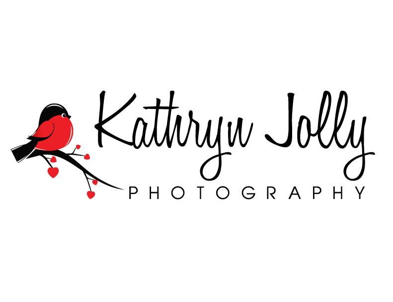 Cute Black and Red Bird Logo Design