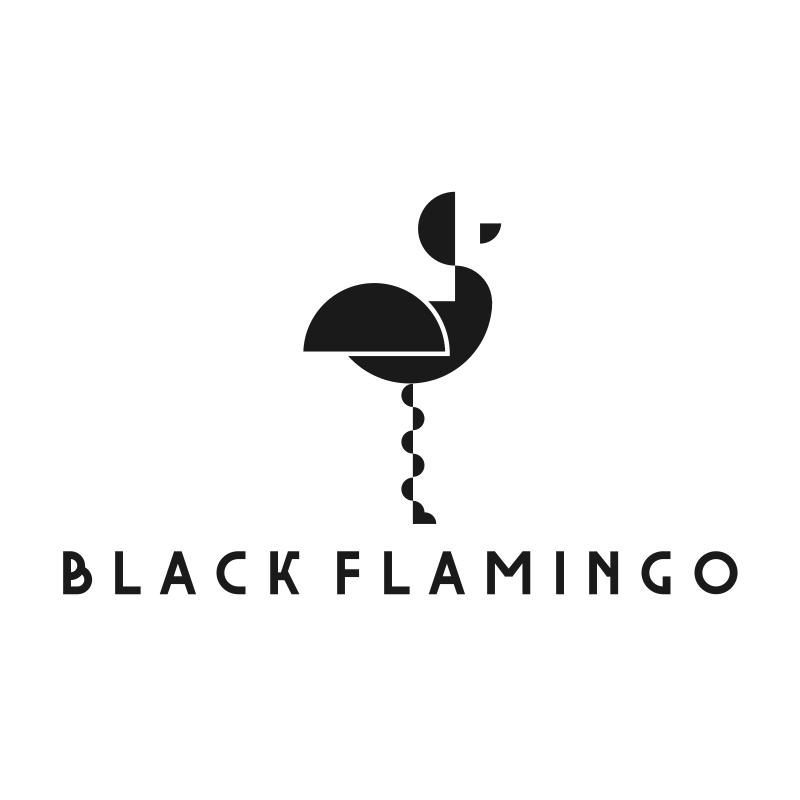Black Flamingo Logo Design
