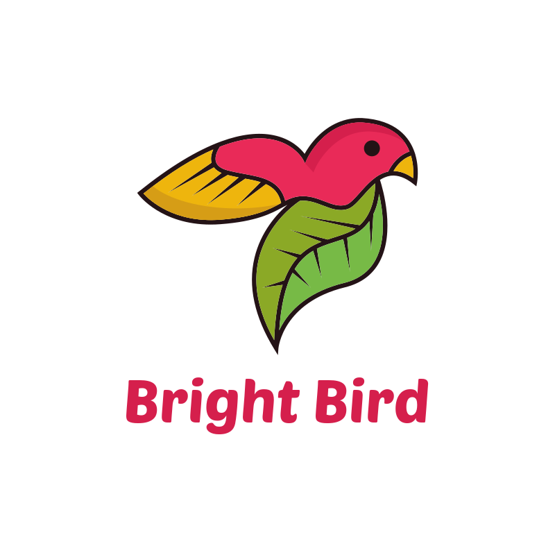 Bright Bird Logo Design