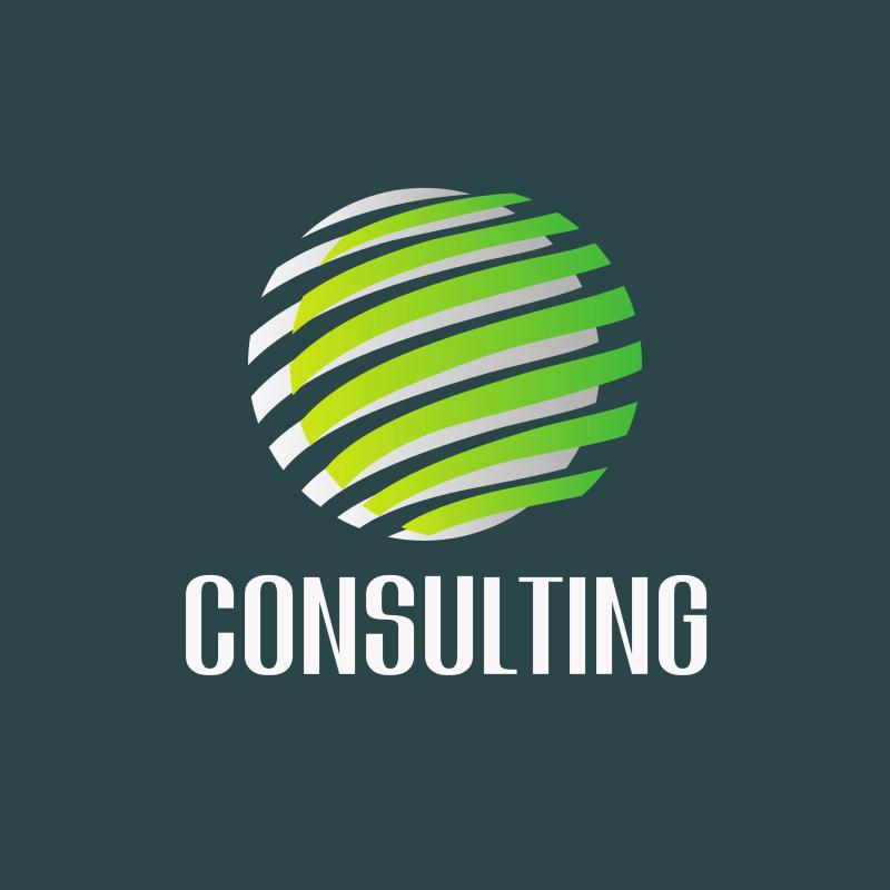 Circle Stripes Consulting Logo Design
