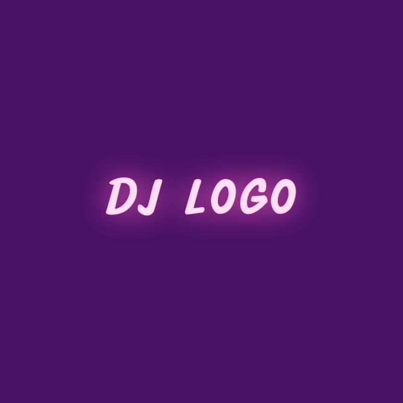 Neon DJ Logo Design Example