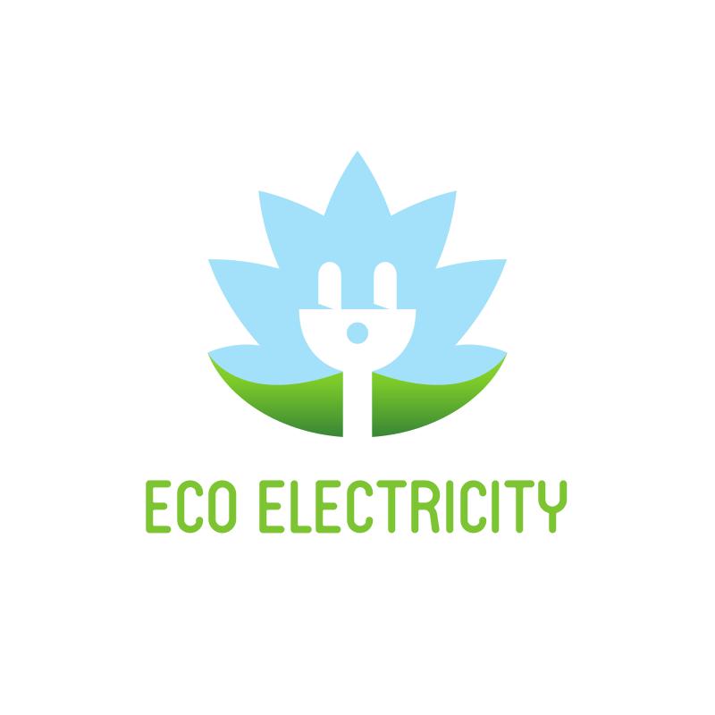 Eco Electricity Logo Design