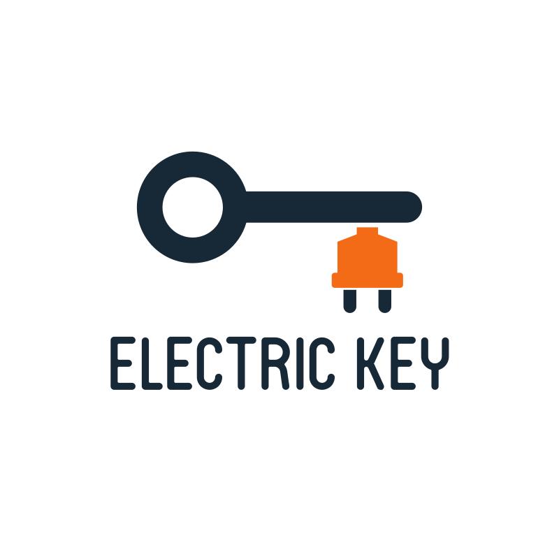 Electric Key Logo Design