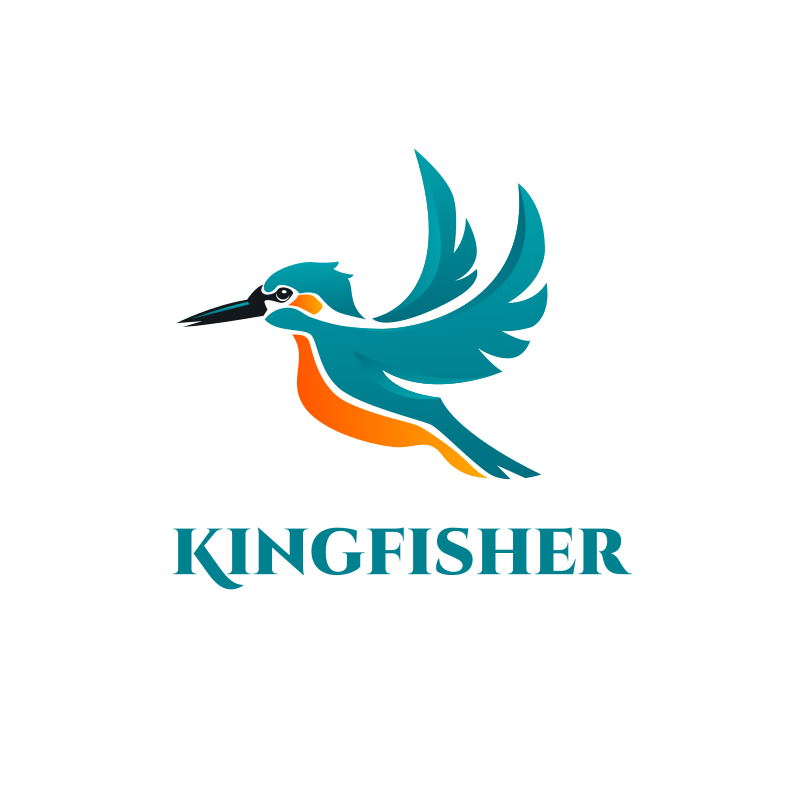Kingfisher Logo Design