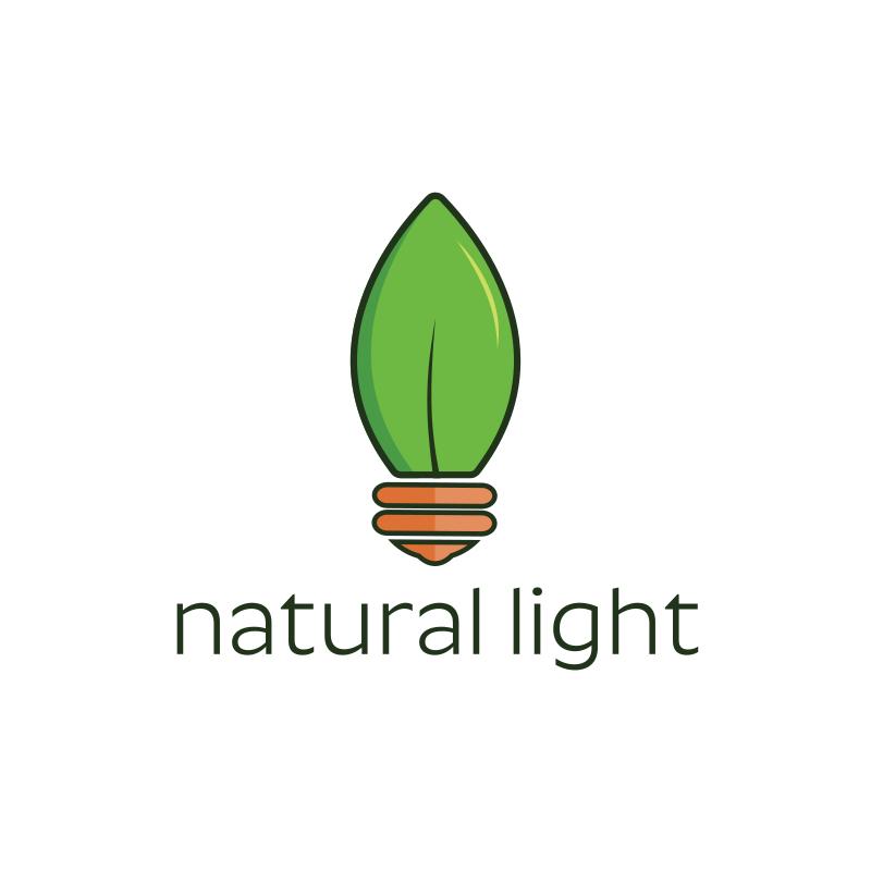 Natural Light Bulb Logo Design