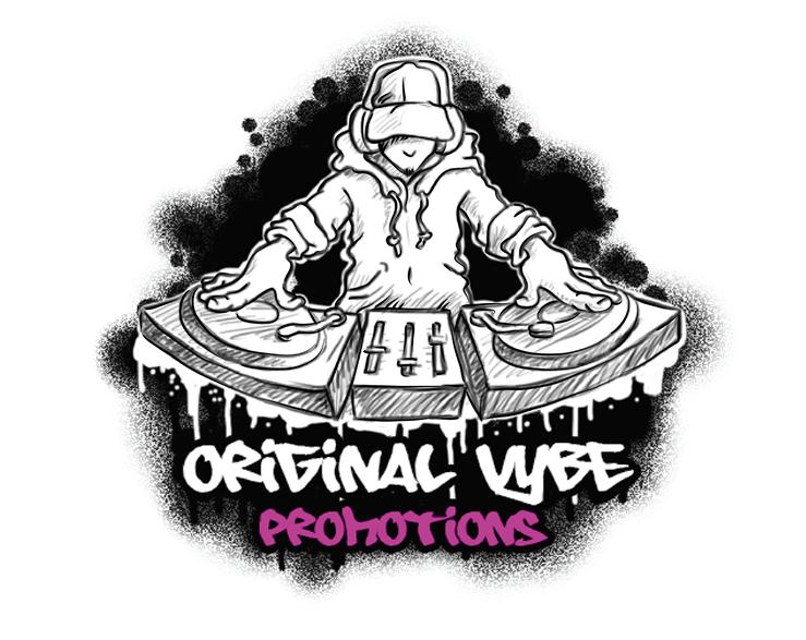 Urban Graffiti Sketch Style DJ Figure Logo Design by ajadinomar