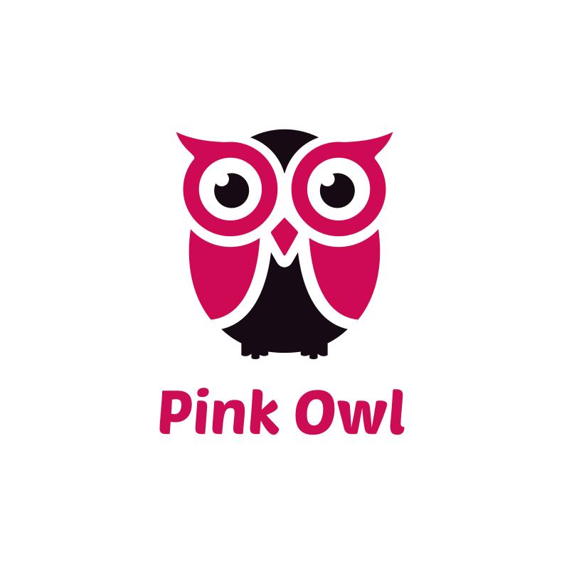 Pink Owl Logo Design