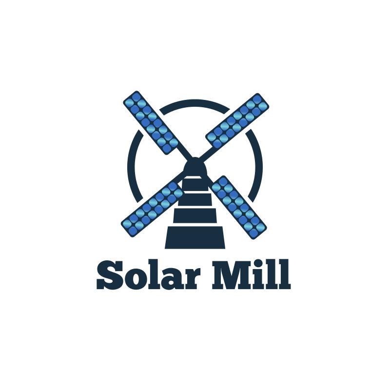 Solar Mill Logo Design