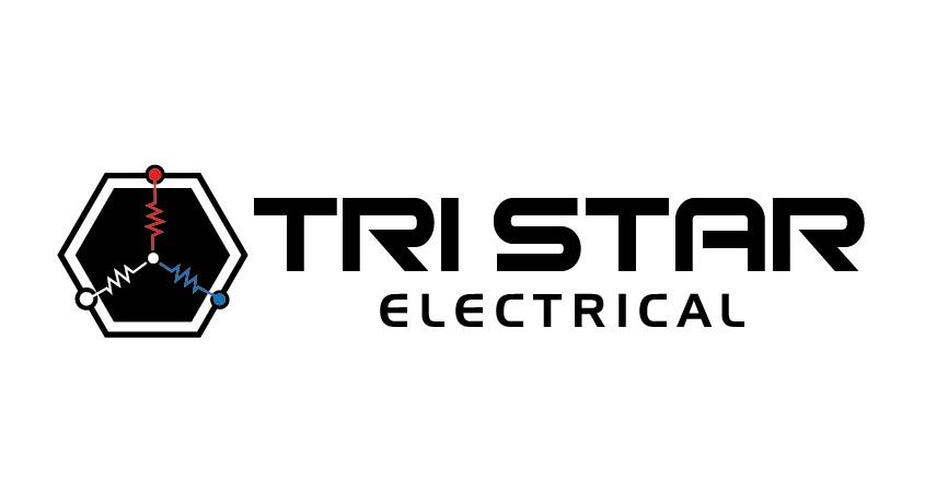 Tri Star Electric Logo Design by renderman