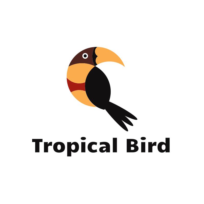 Tropical Bird Logo Design