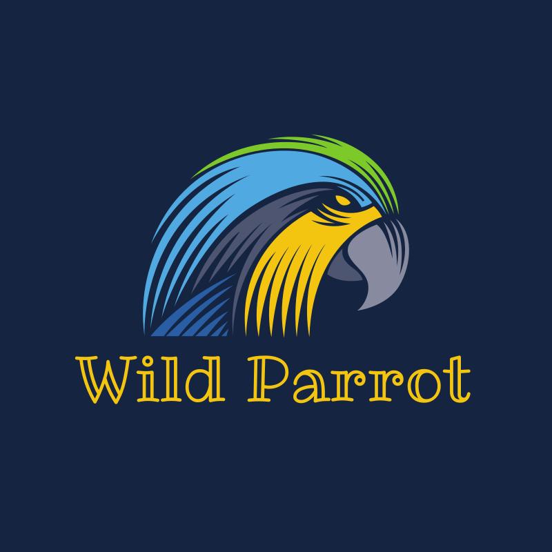 Wild Parrot Logo Design