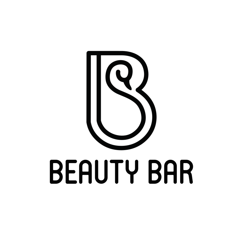 Beauty Bar Round Logo Design