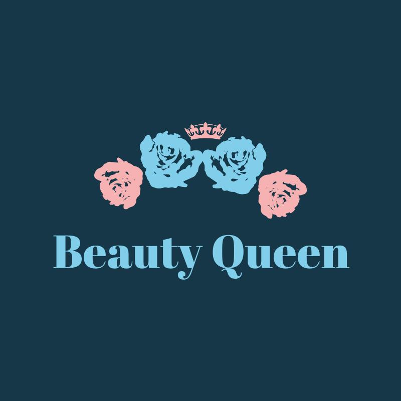 Beauty Queen Floral Logo Design