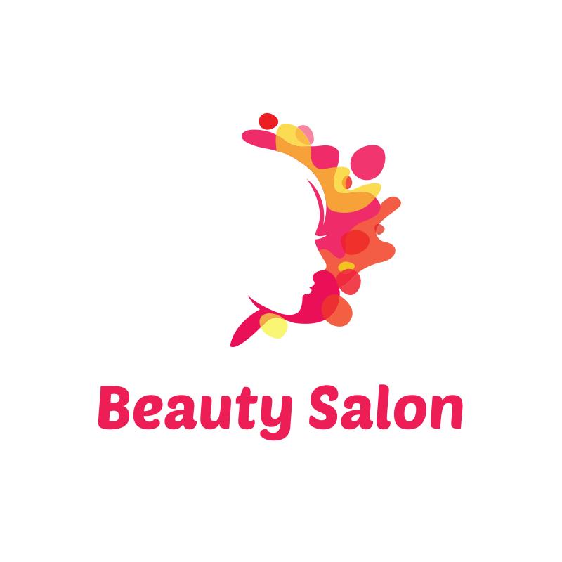 Beauty Salon Pink Splashes Logo Design