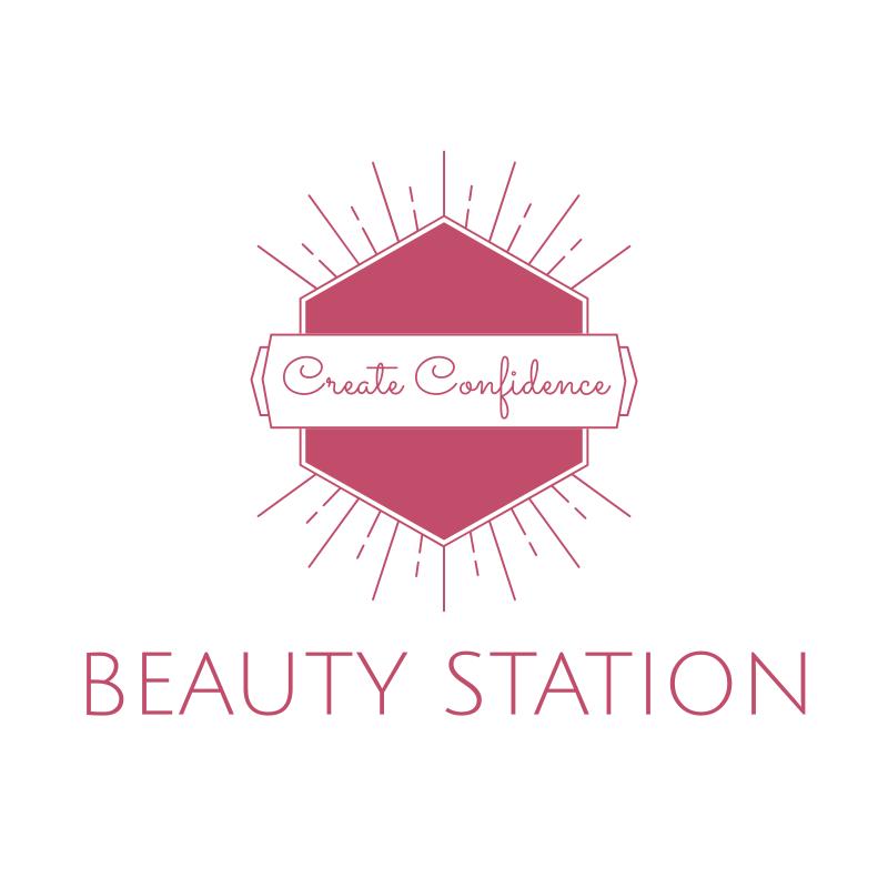Beauty Station Pink Logo Design