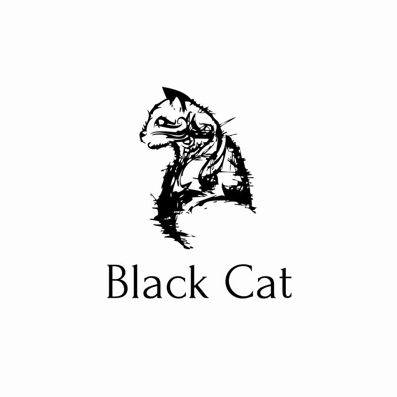 Black Cat Logo Design