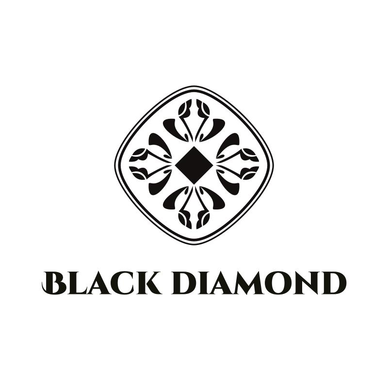 Black and White Diamond Logo Design