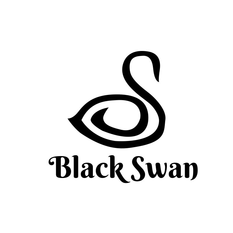 Black Swan Round Beauty Logo Design