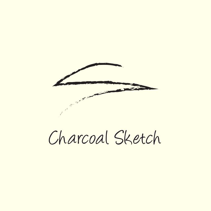 Charcoal Sketch Logo Design