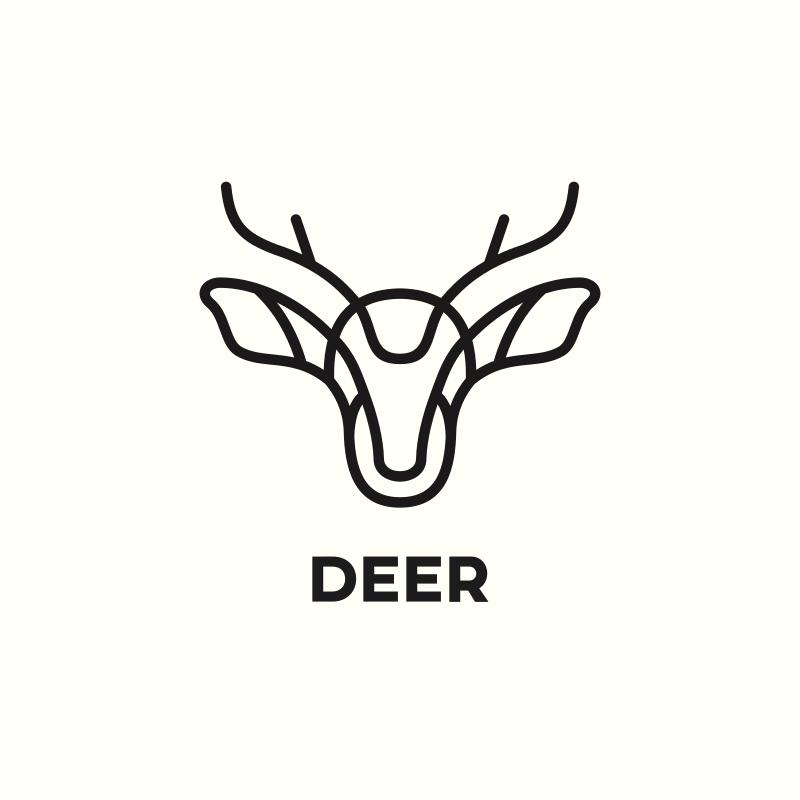 Minimalist Deer Logo Design