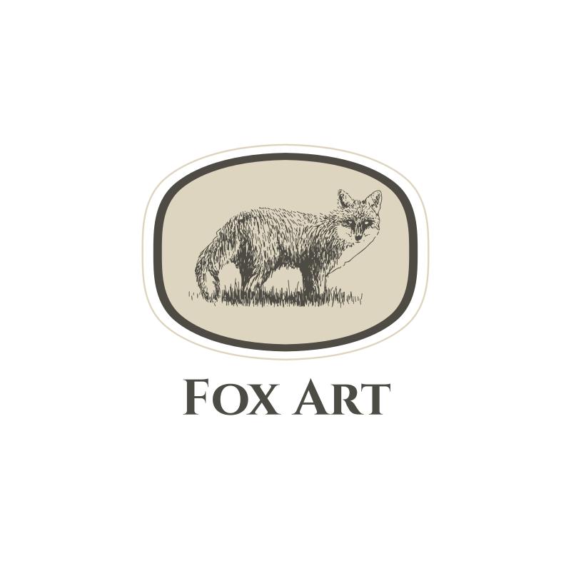 Fox Art Logo Design